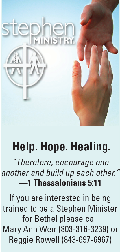 Stephen Ministry offers Help, Hope, and Healing.