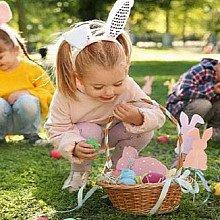 Easter egg hunt for children.