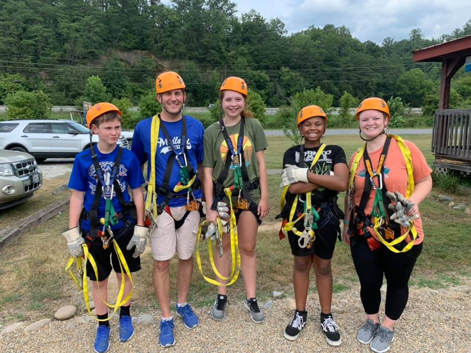 Youth group had a great adventure zip lining!