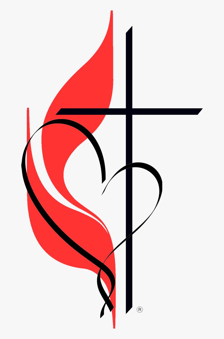 United Methodist Church cross and heart